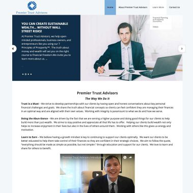 Premier Trust Advisors Wordpress Website